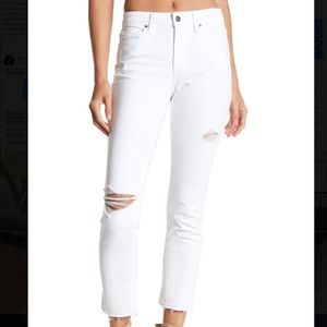 NWT White Joe's straight crop jeans